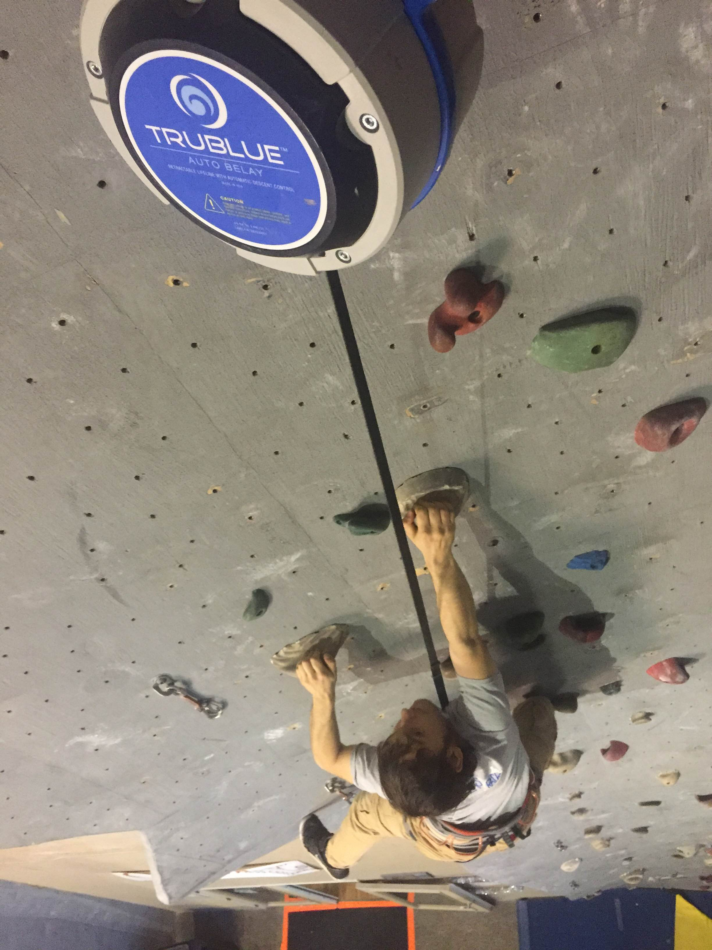 Dwight enjoying our TruBlue Autobelay