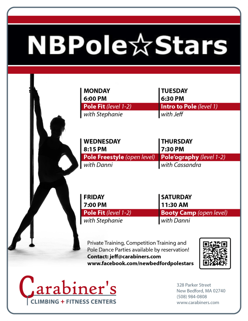 Pole Dancing 6 Days a Week at Carabiner's Indoor Climbing + Fitness!