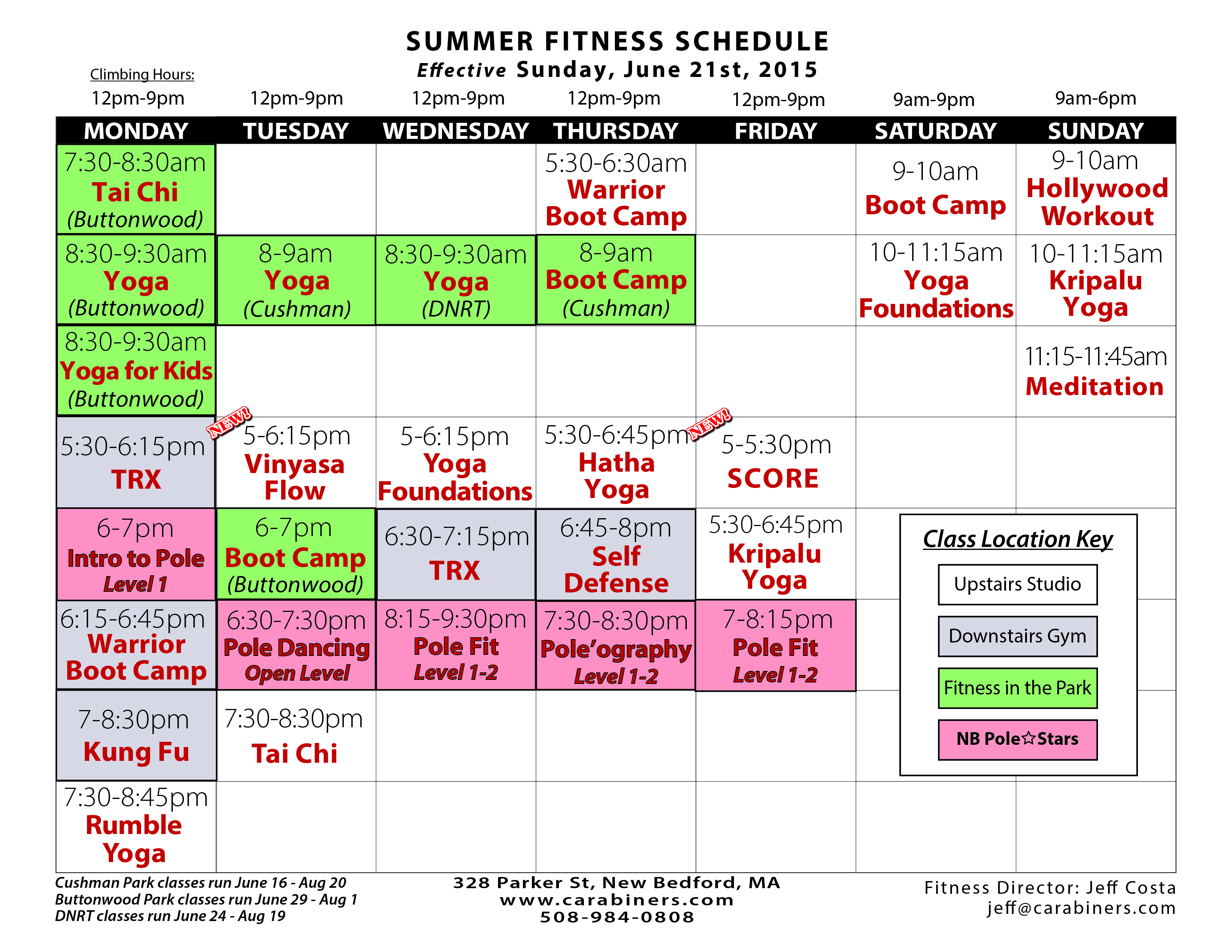 Check Out The Schedule Online