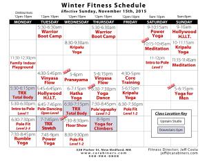 Fitness Schedule Winter 2015
