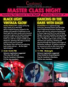 Master Classes October 29, 2015