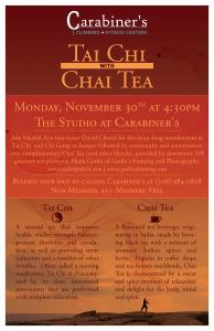 Tai Chi with Chai Tea Nov 30 2015