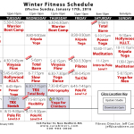 Winter Fitness Schedule 2016