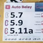 new auto belay routes feb 2017
