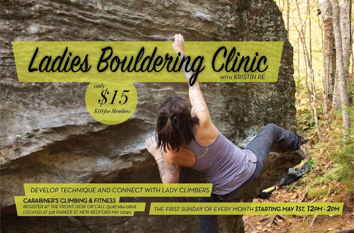 ladies bouldering clinic 2016