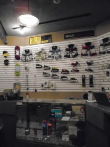 The pro shop at Carabiner's has the gear you need to get climbing!